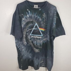 Liquid Blue | Pink Floyd Tie Dye Graphic Tee shirt